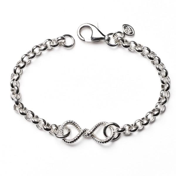 CARGO®  Italian Sterling Silver Rolo Infinity Bracelet with lobster clasp, 7.5in KAR560