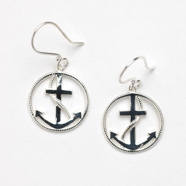 Southern Gates Collection Harbor Series Anchor Earrings (E302)