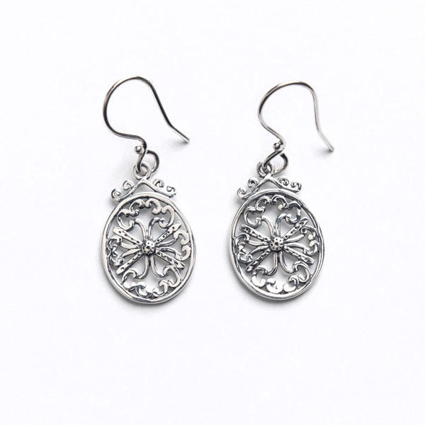 Southern Gates Oxidized Art Deco Earrings