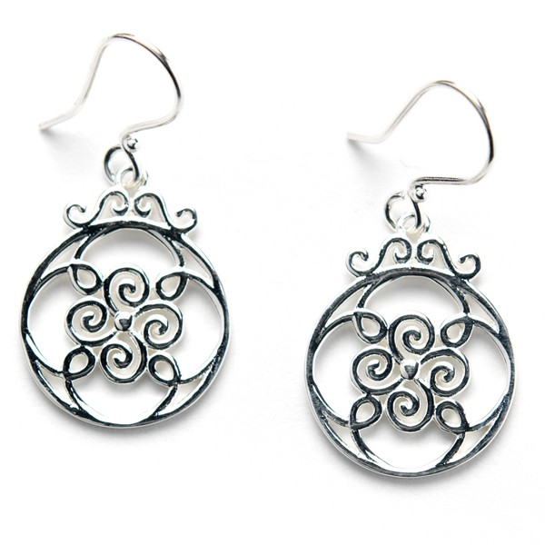 Southern Gates Collection Open Swirl Earrings