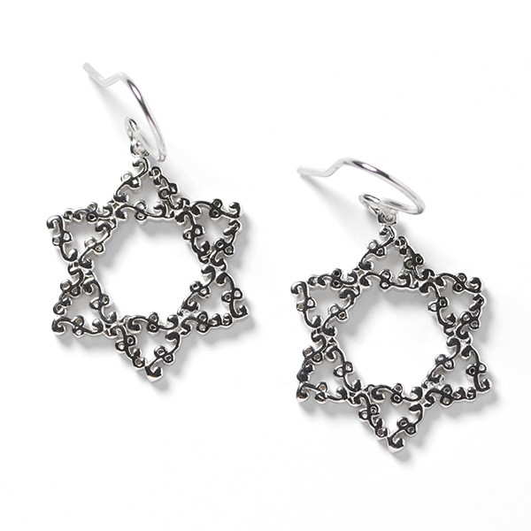 Southern Gates Star of David Earrings (E596)