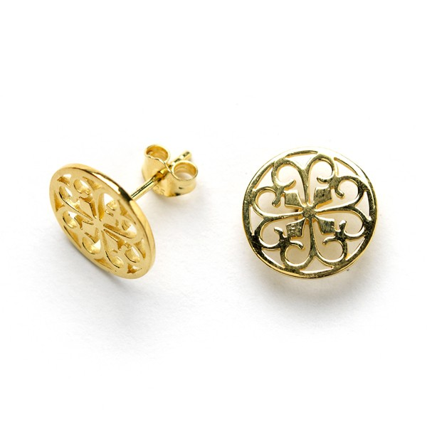 Southern Gates Gold Plated Stud Earrings