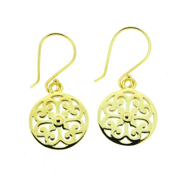 Southern Gates 14k Gold Scroll Earrings