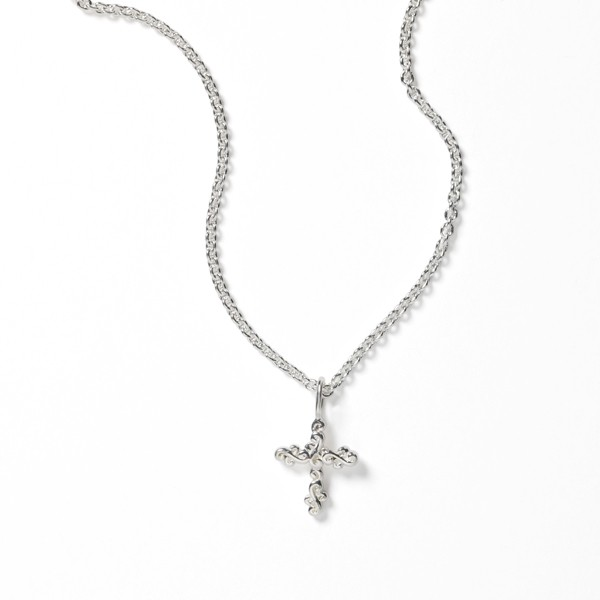 Southern Gates® Scrolling Vine Cross Necklace