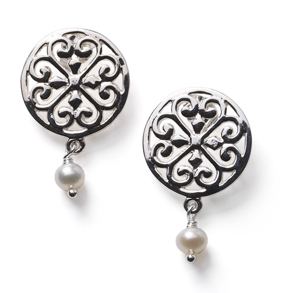 Southern Gates Inspiration Pearl Post Earrings (CARE104w)