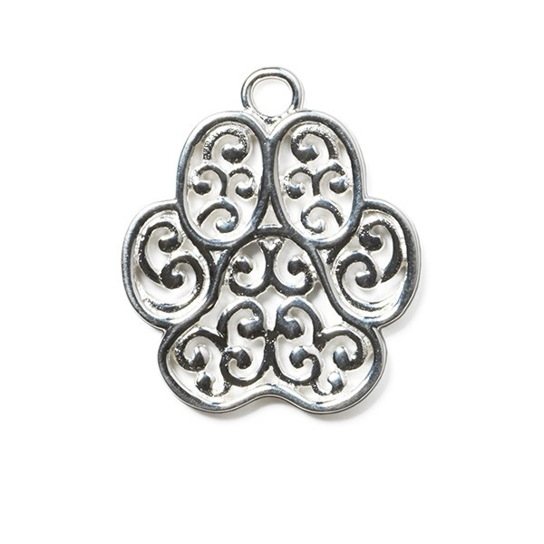 """Southern Gates® """"Lucy"""" Paw Large Pet Charm"""