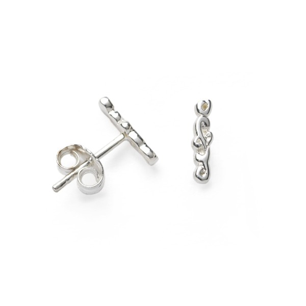 Southern Gates Filigree Vertical Bar Stud Earring (E563)