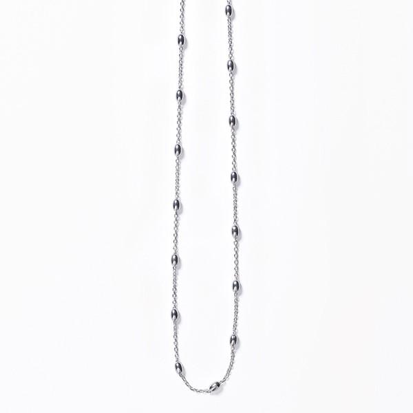 KAR605 Rice Bead Satellite Necklace