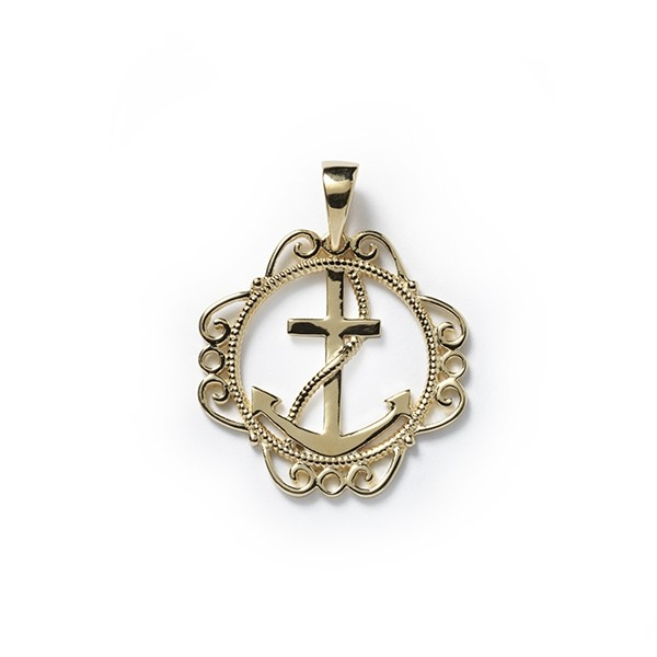 Southern Gates Collection Harbor Series Anchor Pendant GP