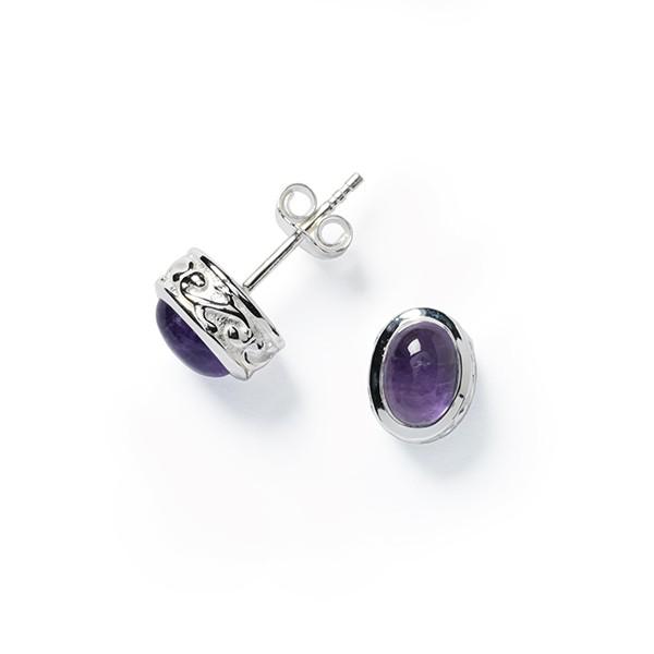E618A Mary Amethyst Earrings