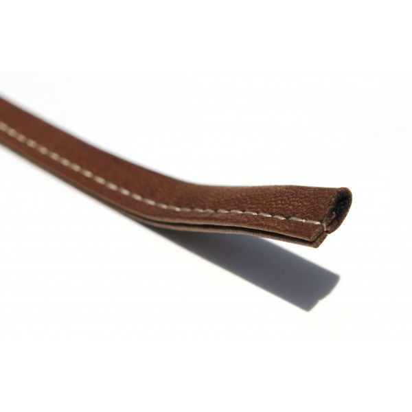 "3/8"" Flat Stitched Leather (Available in Multiple Colors)"