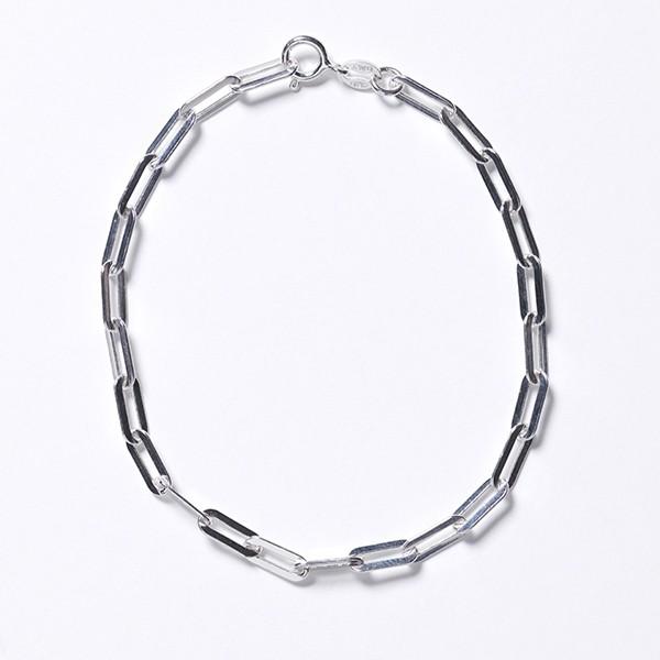 KAR603 Rectangle Paperclip Bracelet