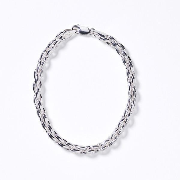 KAR604 Rice Bead Gathered Bracelet