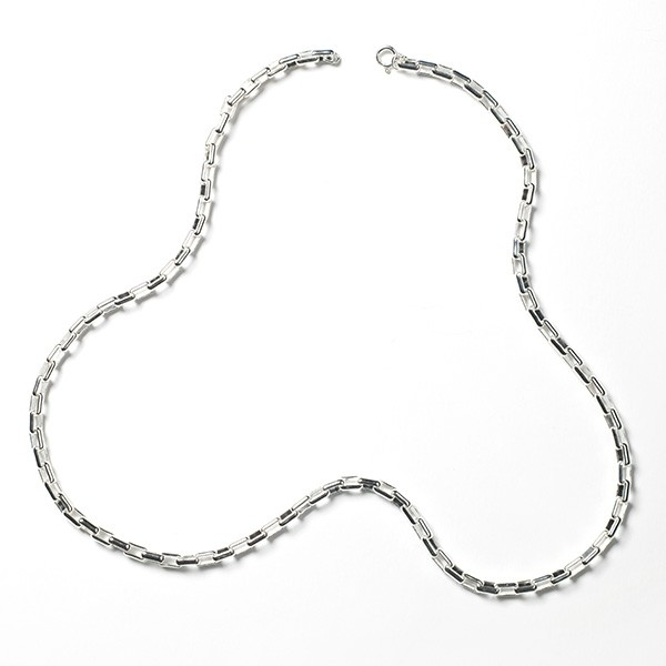 MSC501 4.0mm Sterling Silver Elongated Box Chain