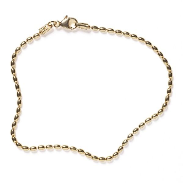 NATRB18 1.8mm Gold Filled Rice Bead Bracelet