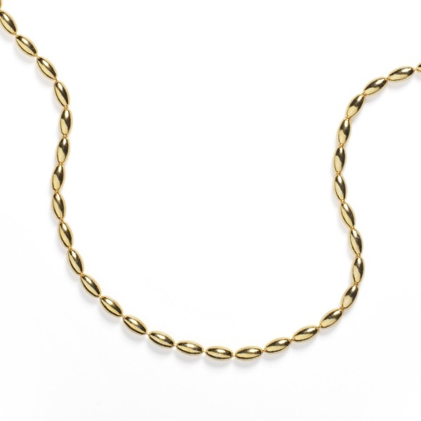 NATRB30 3.0mm Gold Filled Rice Bead Chain