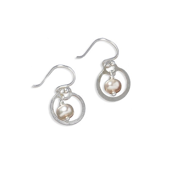 Southern Gates Hand Made Pink Pearl Earrings (CARE152P)