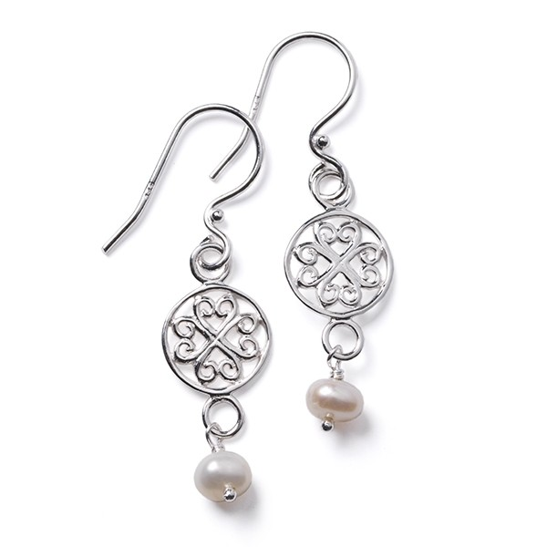 Southern Gates White Pearl Earring (CARE116)