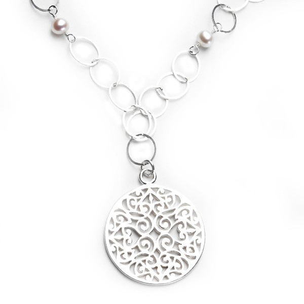 Handwrought Classic Southern Gates Necklace (JK36W)